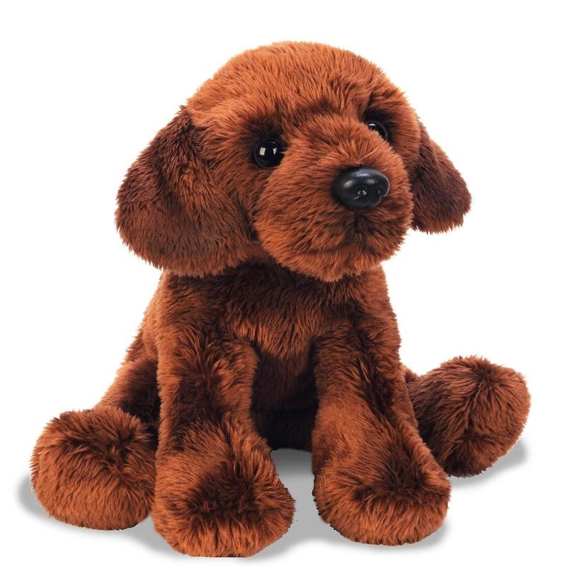 Bruine Labrador knuffel 12 cm