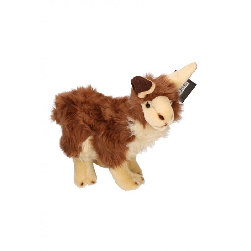 Bruine lama knuffel 35 cm