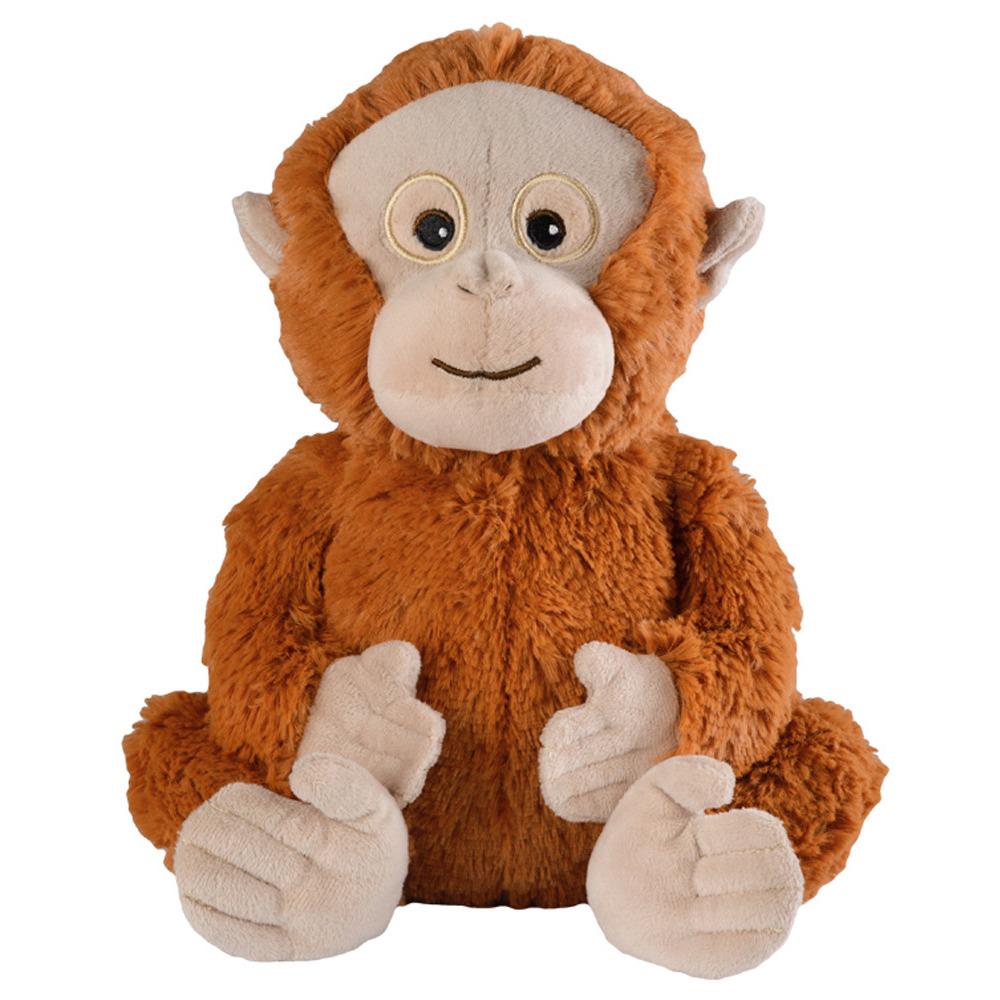 Bruine orang oetan heatpack/coldpack knuffels 33 cm knuffeldieren