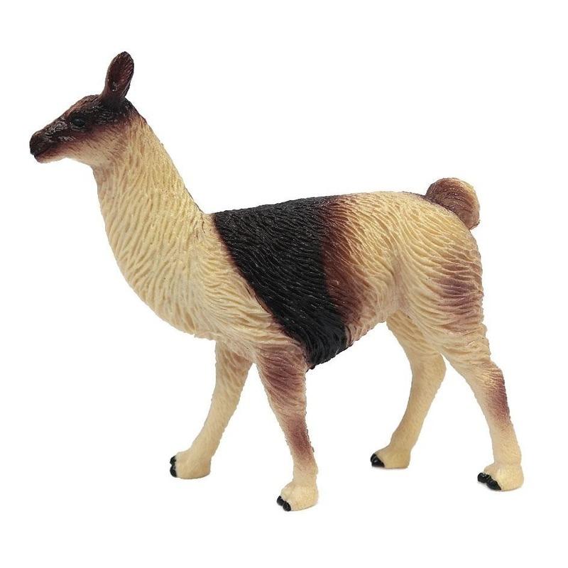 Bruine speelgoed lama 9 cm