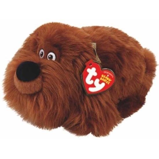 Bruine Ty Beanie hond/honden knuffels Duke 15 cm knuffeldieren