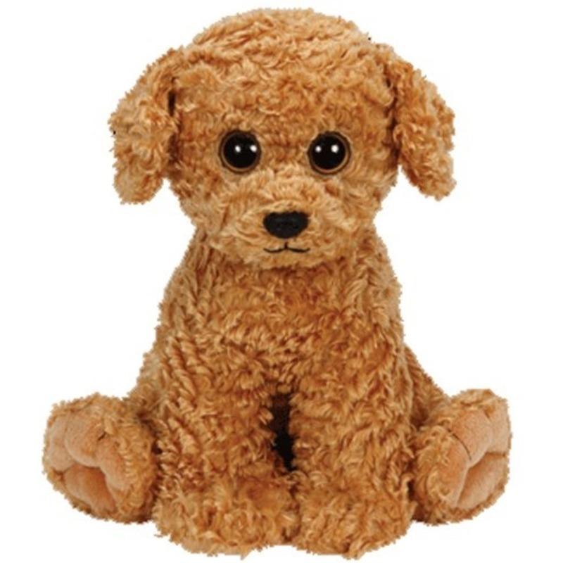 Bruine Ty Beanie honden knuffels Luke 24 cm knuffeldieren