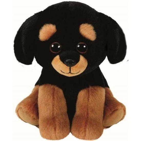 Bruine Ty Beanie rottweiler honden knuffels Trevour 15 cm knuffeldieren