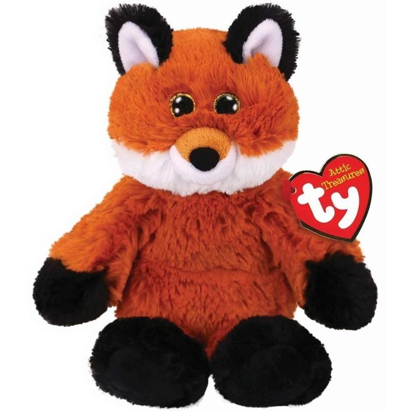 Bruine Ty Beanie vos/vossen knuffels Fred 20 cm knuffeldieren