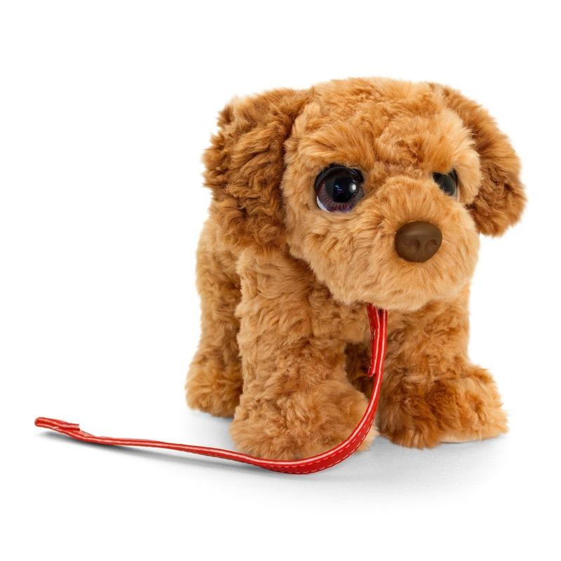 Cockapoo honden knuffeldier bruin 30 cm