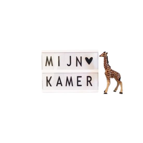 Deco kinderkamer lightbox met alfabet A5