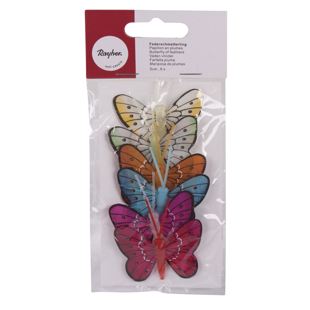 Deco vlinders 6 stuks