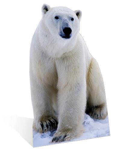 Decoratiebord ijsbeer 176 cm