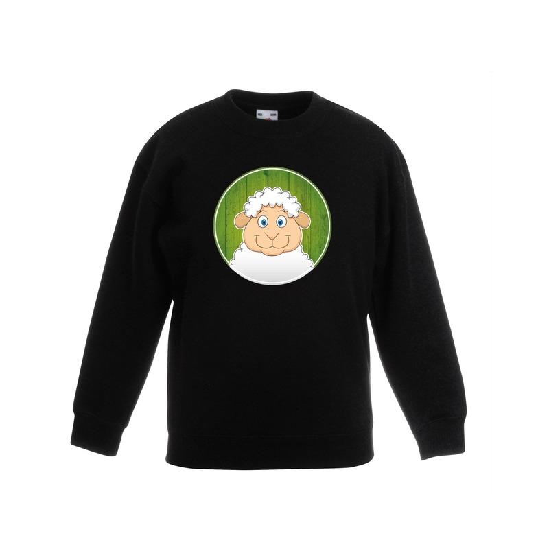 Dieren lammetje trui zwart jongens en meisjes