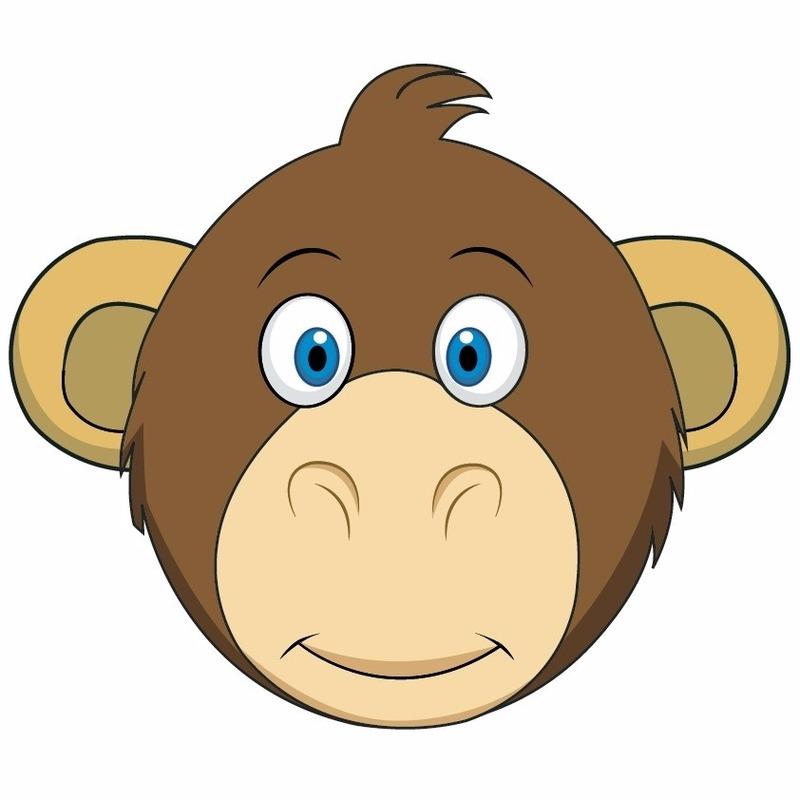 Dieren masker aap voor kids