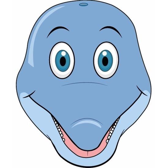 Dieren masker dolfijn voor kids