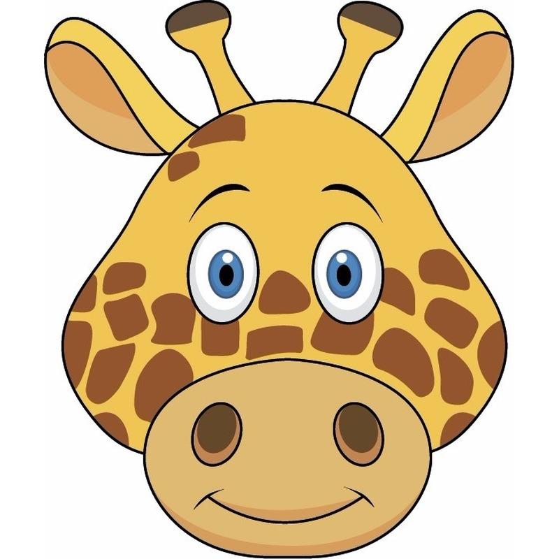 Dieren masker giraffe voor kids