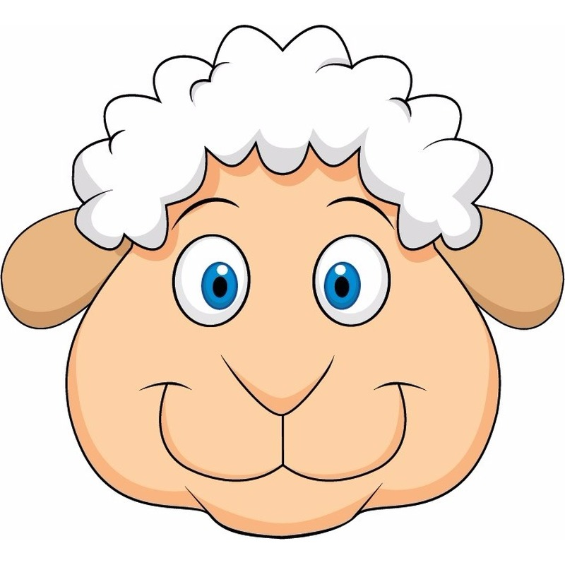Dieren masker schaap/lammetje voor kids