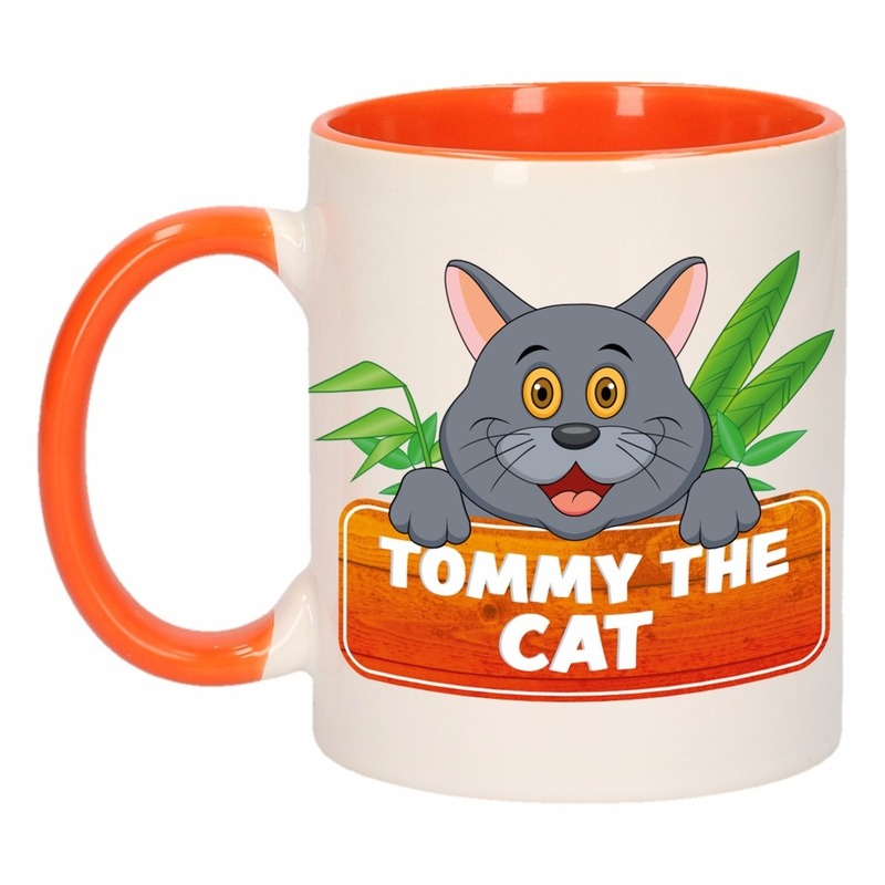 Dieren mok / katten beker Tommy the Cat 300 ml