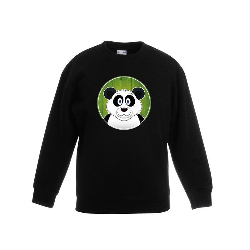 Dieren panda trui zwart jongens en meisjes