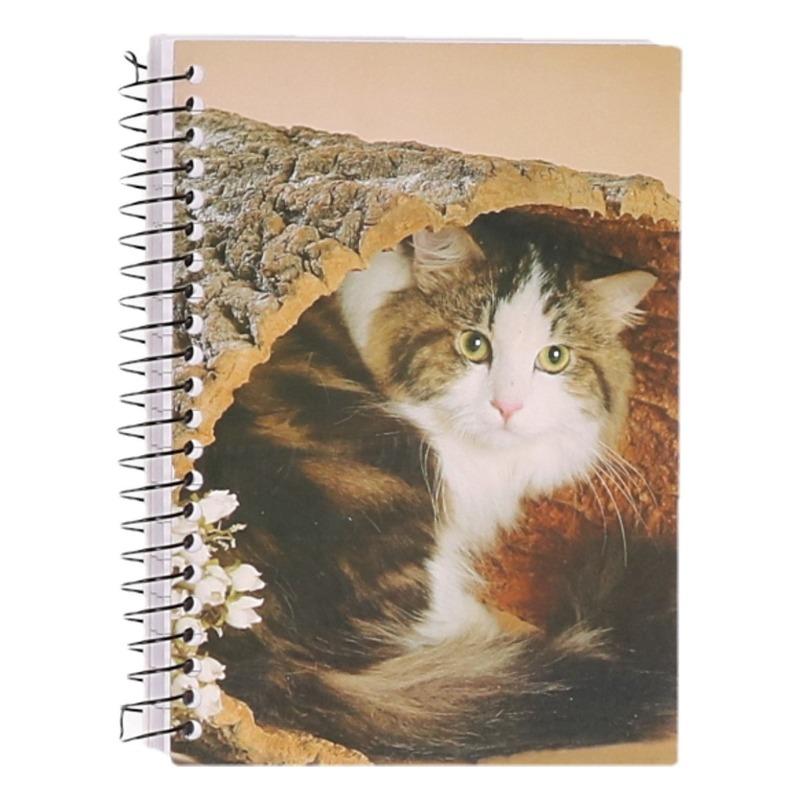 Dieren schriftje A6 kat