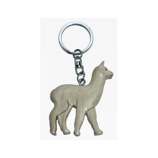 Dieren sleutelhanger witte lama