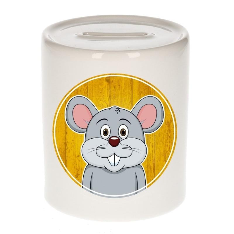 Dieren spaarpot muis voor kinderen 9 cm