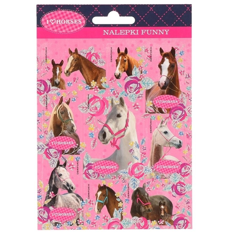 Dieren stickers paarden 16 stuks set 5