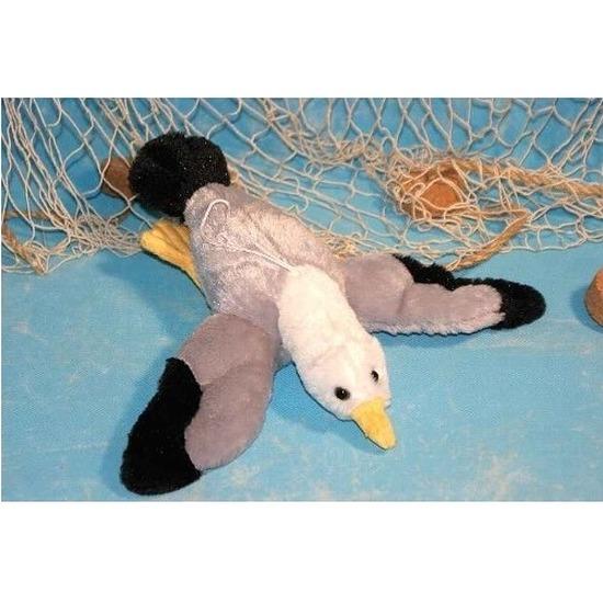 Afbeelding Dierenknuffel zeemeeuw vogel 28 cm vliegend door Animals Giftshop