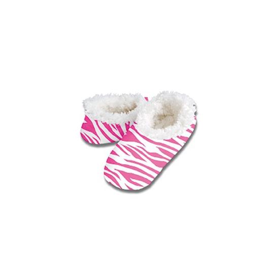 Dierenprint sloffen roze zebra