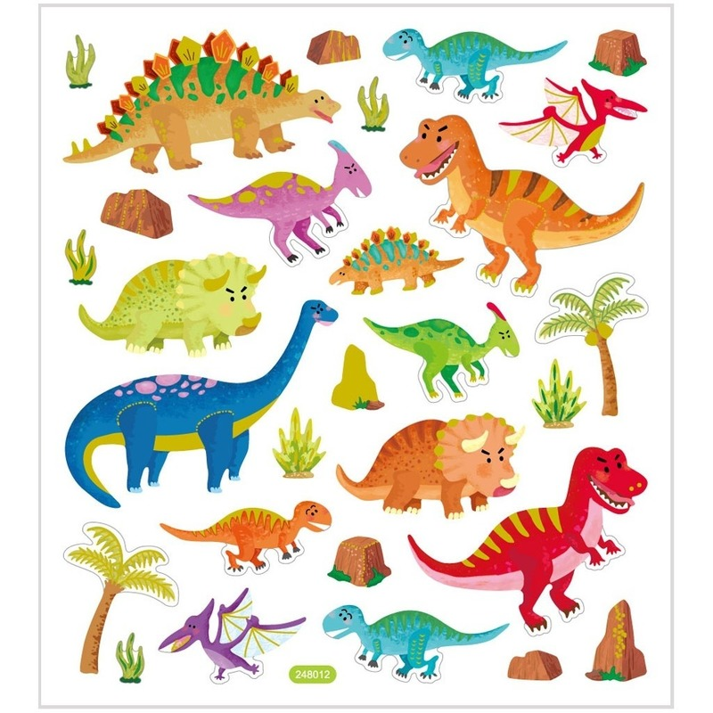 Dino stickers metallic