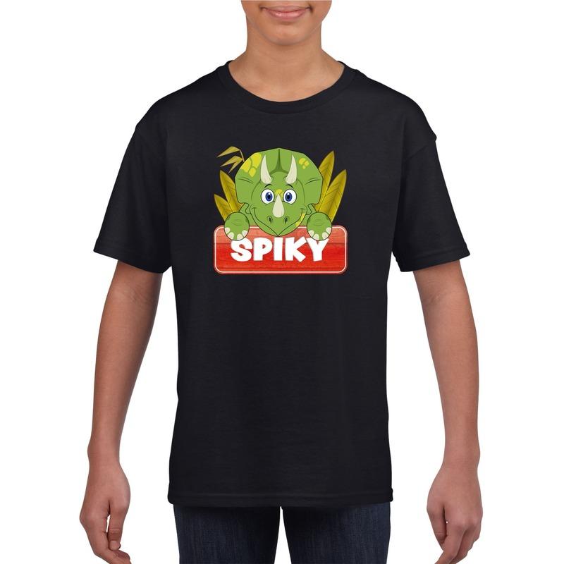 Dinosaurier dieren t-shirt zwart voor kinderen