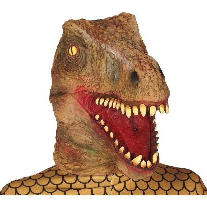 Dinosaurus horror/halloween masker van latex