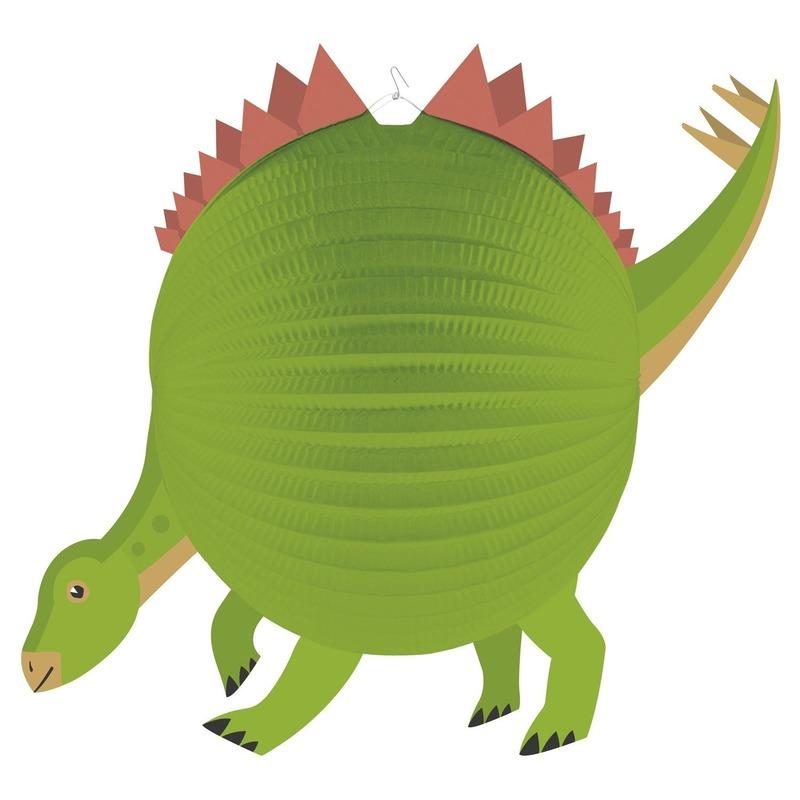 Dinosaurus ronde lampion 25 cm