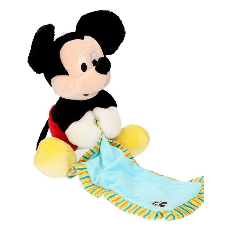 Disney pluche Mickey Mouse knuffeldoek 25 cm