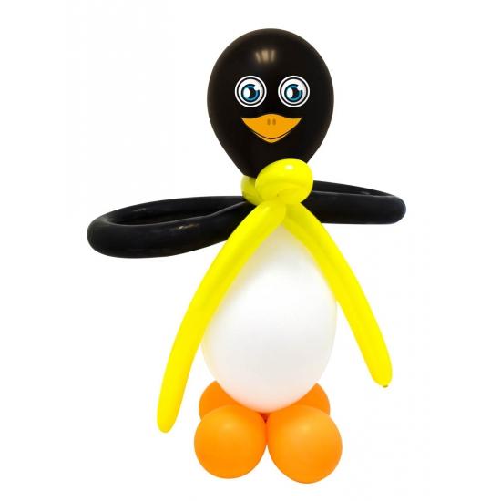 Doe het zelf ballon figuur pinguin