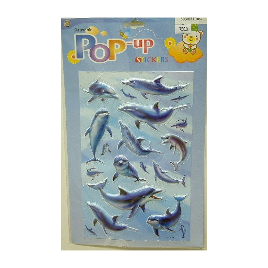 Dolfijnen plakplaatjes 3D