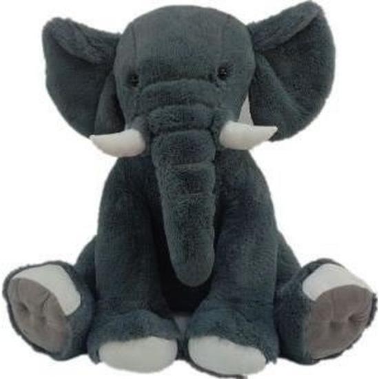 Afbeelding Donkergrijze olifanten knuffels Olly 84 cm knuffeldieren door Animals Giftshop