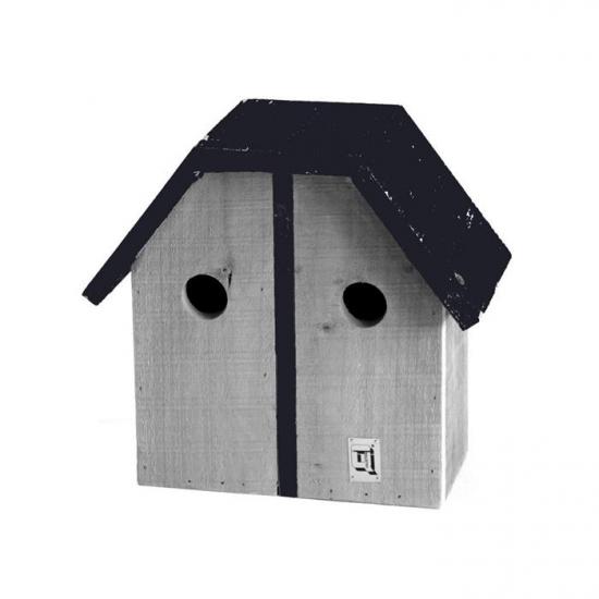 Dubbel houten vogel nestkastje 29 cm