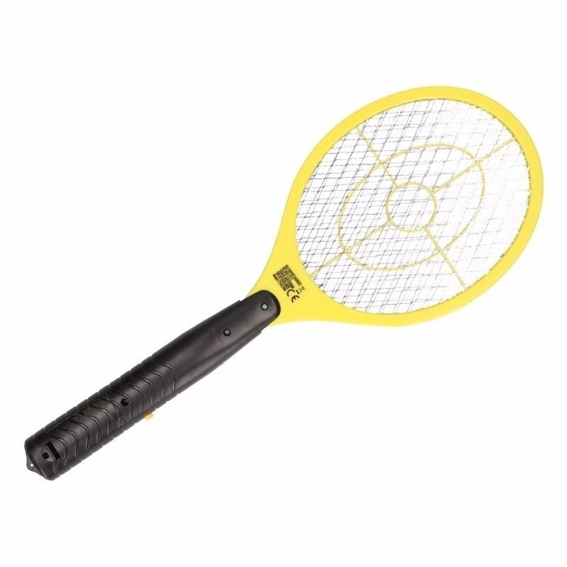 Elektrische vliegenmepper geel