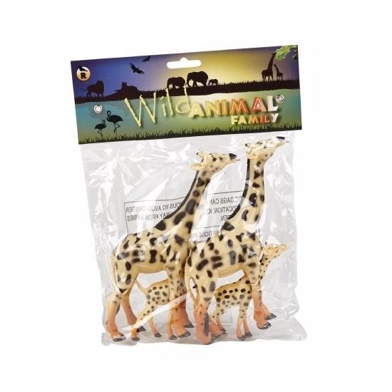 Familieset speelgoed giraffes 4st rubber