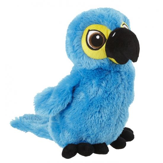 Fel blauwe papegaaien knuffel
