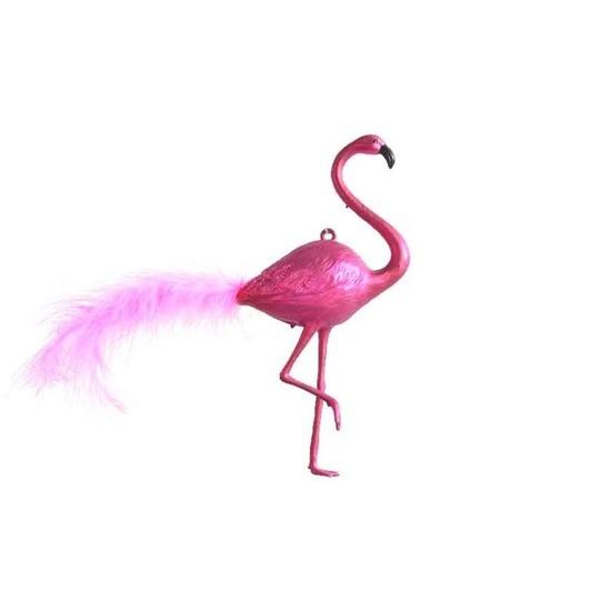 Flamingo kerstornamenten kersthangers 16 cm