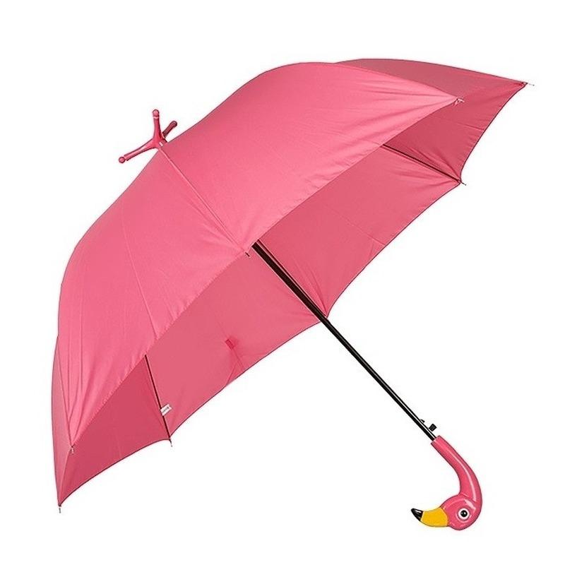 Flamingo paraplu met voetjes
