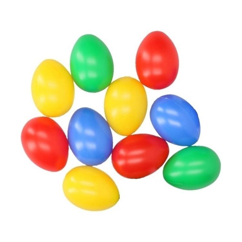 Gekleurde plastic paaseieren 10 stuks
