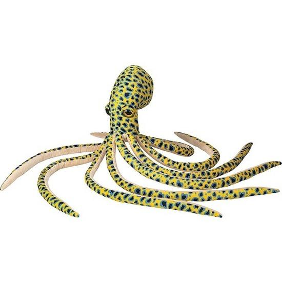 Gele octopus/inktvis vissen knuffels 100 cm knuffeldieren