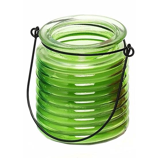 Geurkaars citroen anti muggen in groen glas