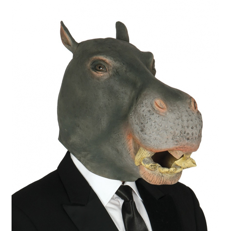 Grijs nijlpaarden masker voor volwassenen