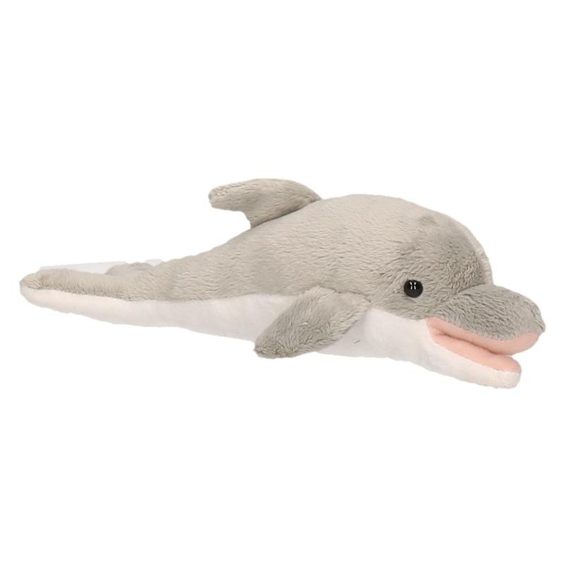 Grijze dolfijnen knuffels 26 cm knuffeldieren
