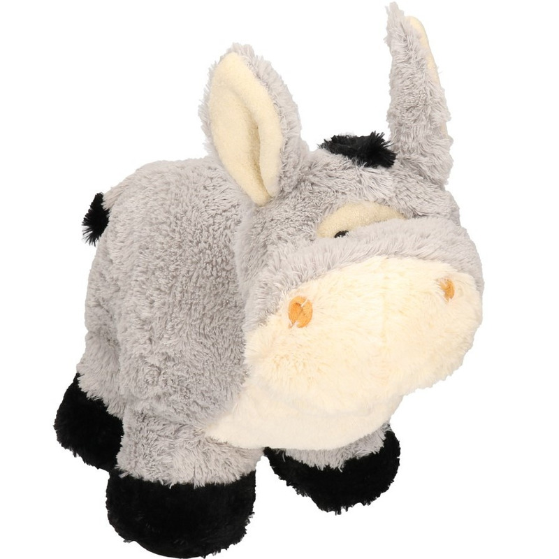 Grijze ezel knuffel 35 cm