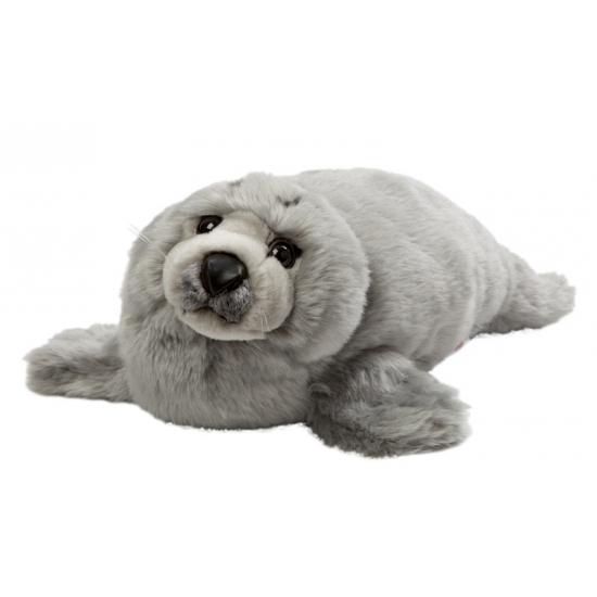 Grijze knuffel zeehond 40 cm