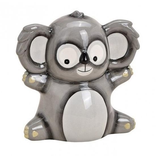 Grijze koala spaarpot voor kinderen 18 cm