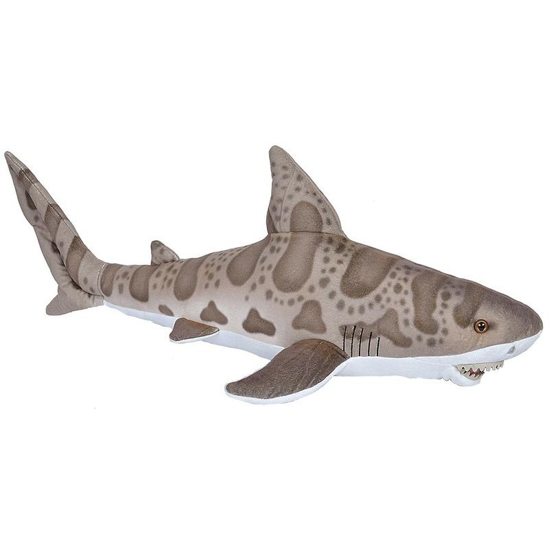 Grijze luipaard haaien knuffels 60 cm knuffeldieren