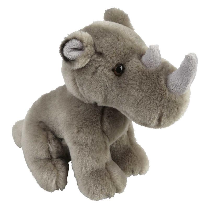 Grijze neushoorns knuffels 18 cm knuffeldieren