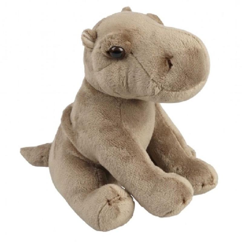 Grijze nijlpaard knuffel 19 cm knuffeldieren
